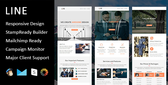 Christmas - New Year Responsive Email Template with Mailchimp Editor & Online StampReady Builder Acc - 3