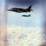 3 Sqn GR3 and 4 Sqn T4 en route to Akrotiri 1989