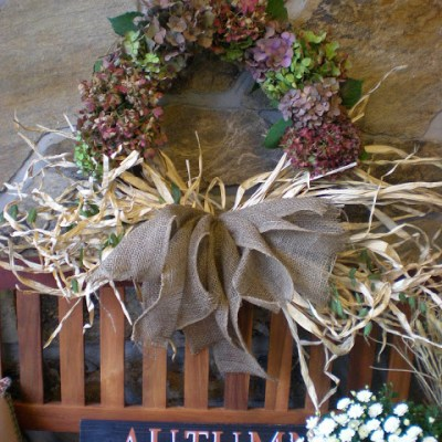 How to make a hydrangea Autumn Wreath