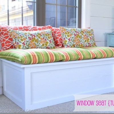 how to build a window seat