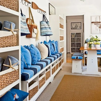 Mudroom inspiration {for our room off the kitchen}