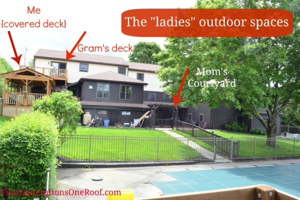 outdoor spaces, pool, deck, courtyard