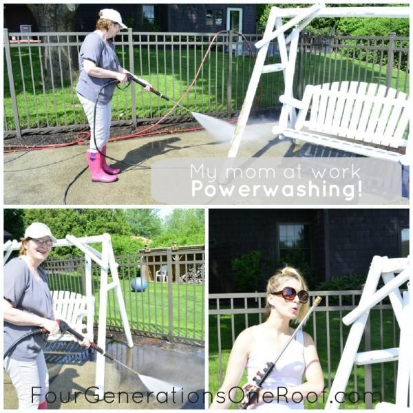 DIY powerwashing, pool