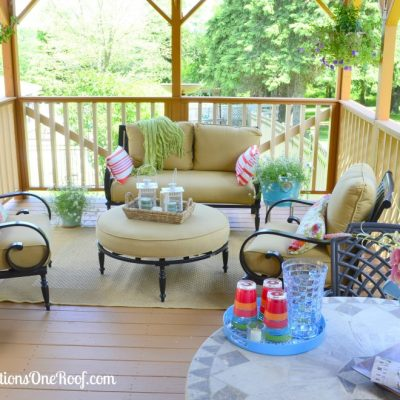 Our pink and orange deck {before & after}