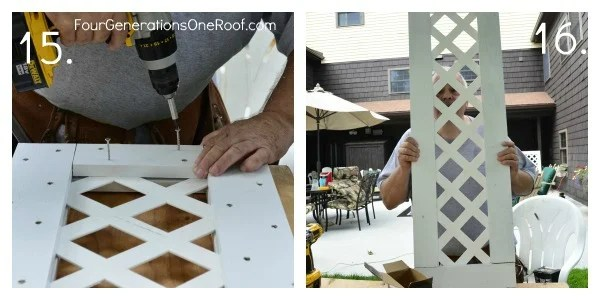 How to build a lattice privacy screen {diy tutorial} , privacy panel