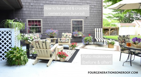 How to repair an old cracked cement patio tutorial