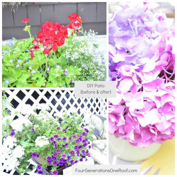 How to repair an old cracked patio flower collage