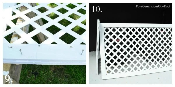 How to build a white vinyl lattice privacy screen {diy tutorial}