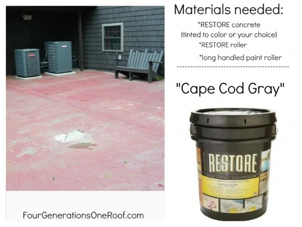 RESTORE Cape Cod Gray tinted concrete