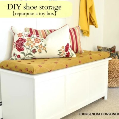 DIY shoe storage {tutorial}