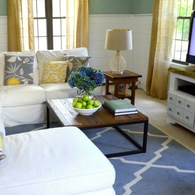 Coastal Cottage family room {before & after}