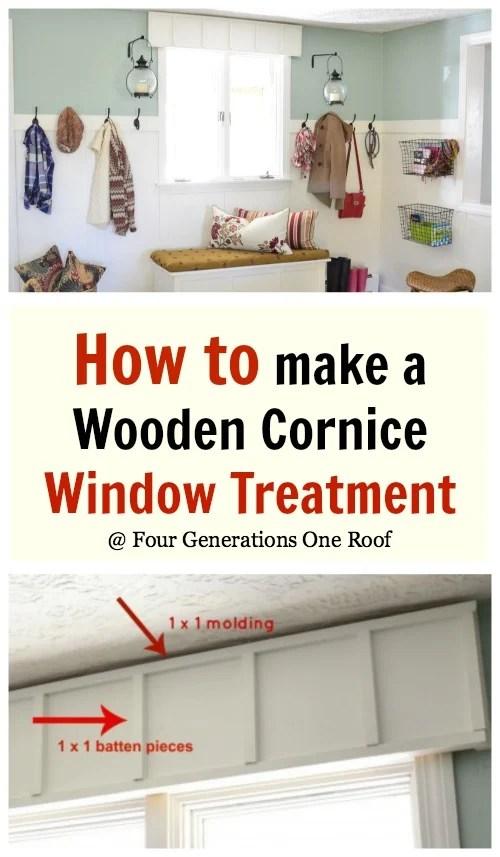 Fit Wooden Cornice Board
