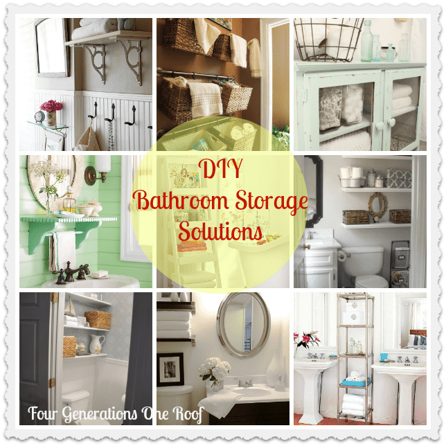 diy Bathroom storage ideas
