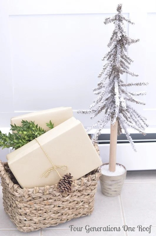 diy bathroom renovation basket of gifts