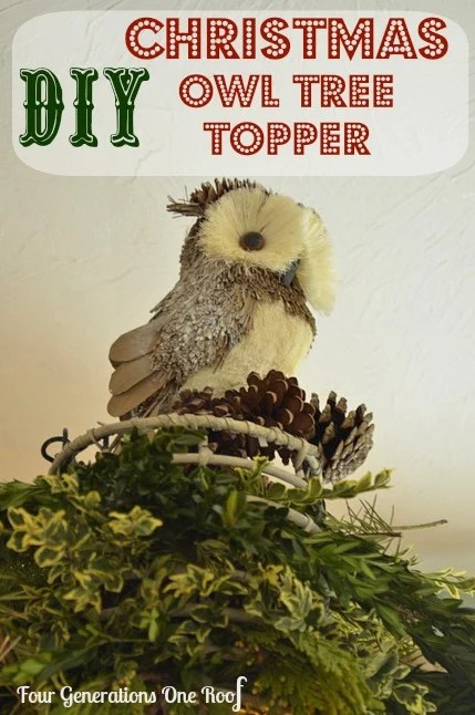 DIY christmas decoration owl tree topper