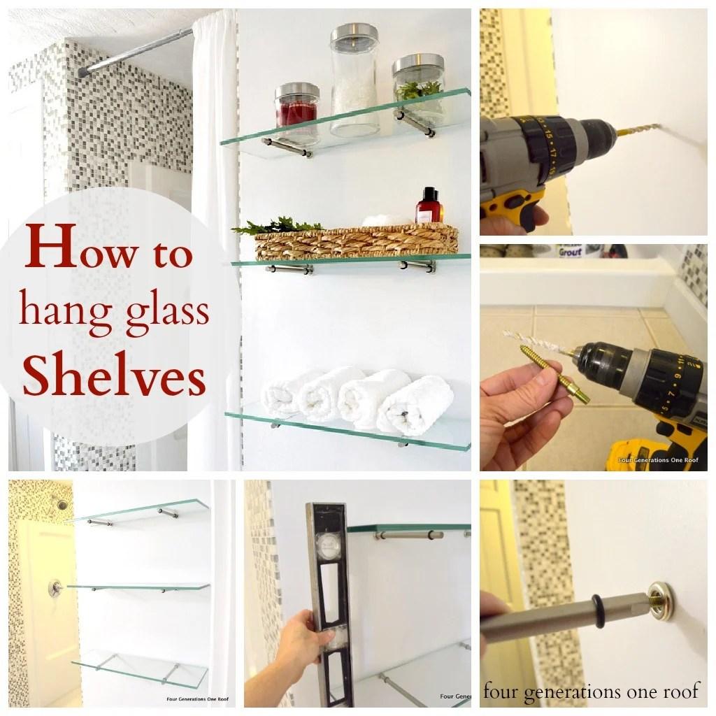 Hang glass shelves