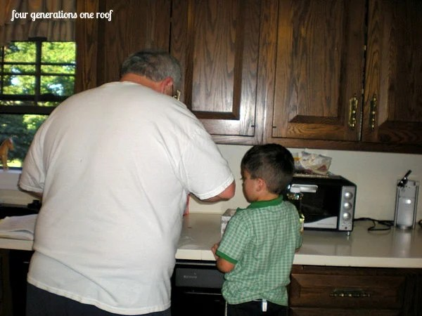 multiple generations cooking together