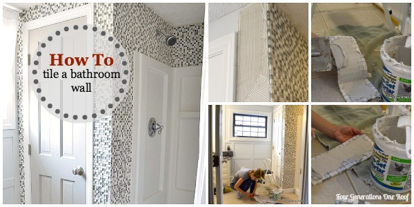 how to install tiles on a bathroom wall
