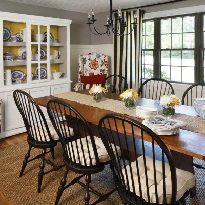Coastal Cottage Dining Room {before and after}