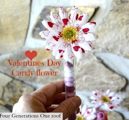 valentines day candy flower