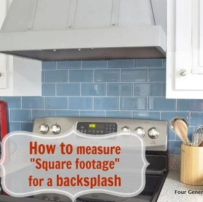How to calculate square footage {backsplash}