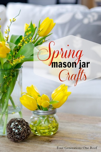 mason jar spring crafts