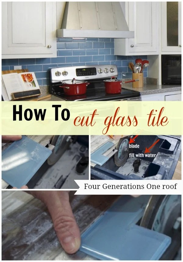 how to cut glass tile using a wet saw