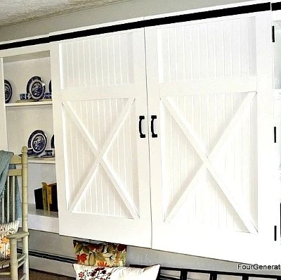 Creative DIY Sliding Doors {tutorials}