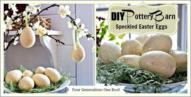 DIY Pottery Barn speckled eggs