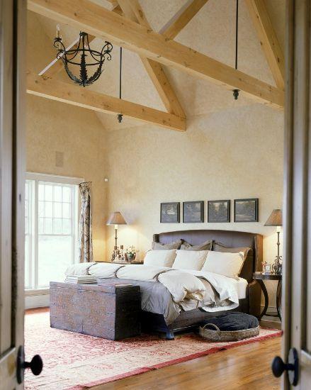 wooden beams + reclaimed lumber