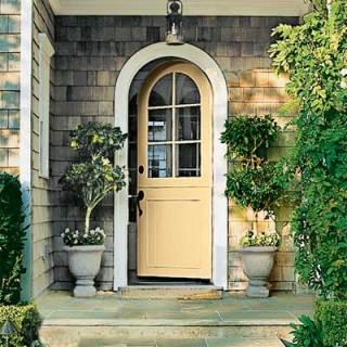 cream yellow front door color ideas