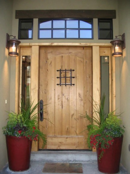 front door color ideas with lantern