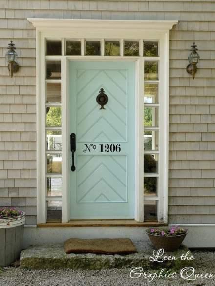 light blue green front door color ideas