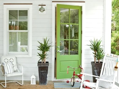 lime green front door color ideas