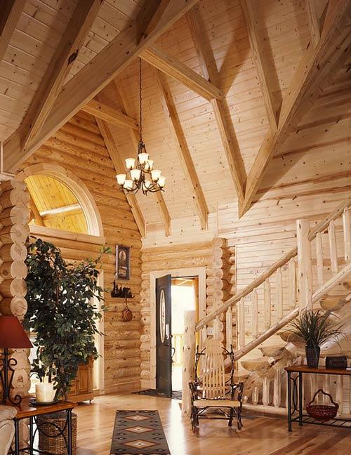 log home entry way