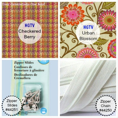HGTV HOME urban blosson + checkered berry