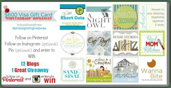 Pinstagram $600 visa gift card giveaway