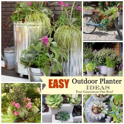 Easy + creative outdoor planters