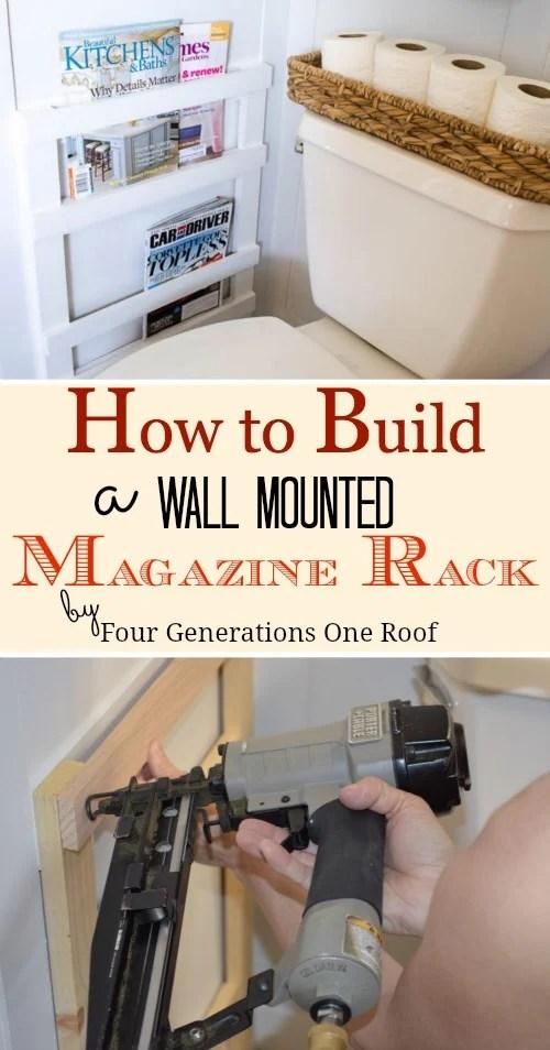 diy magazine rack wall mounted