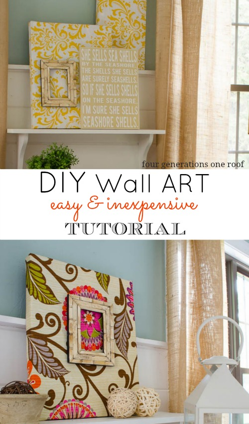 Fabric Diy Wall Art Four Generations One Roof