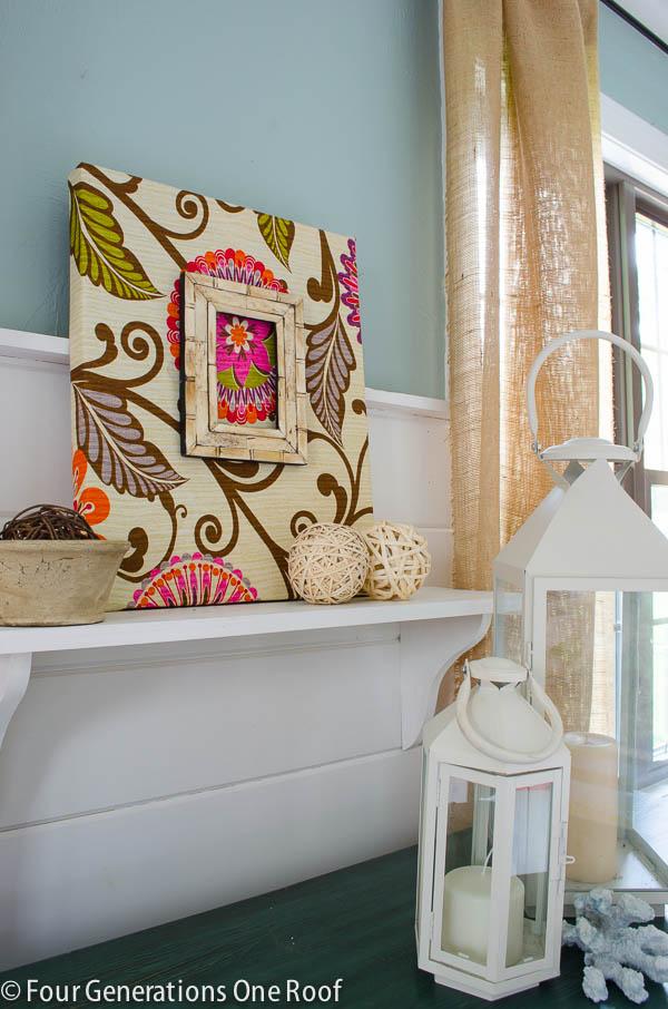 Fabric DIY Wall Art {tutorial} - Four Generations One Roof on Pinterest Wall Decor  id=22940