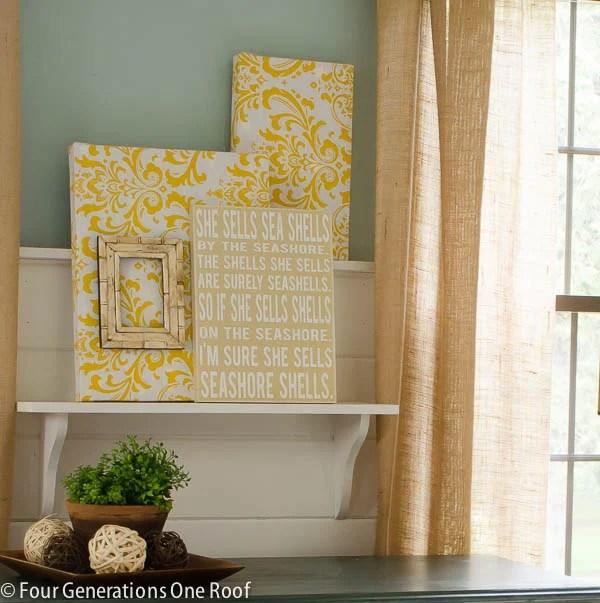 Fabric DIY wall art