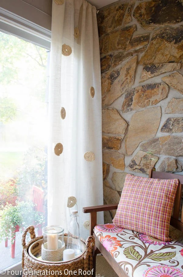 no sew diy white burlap curtains