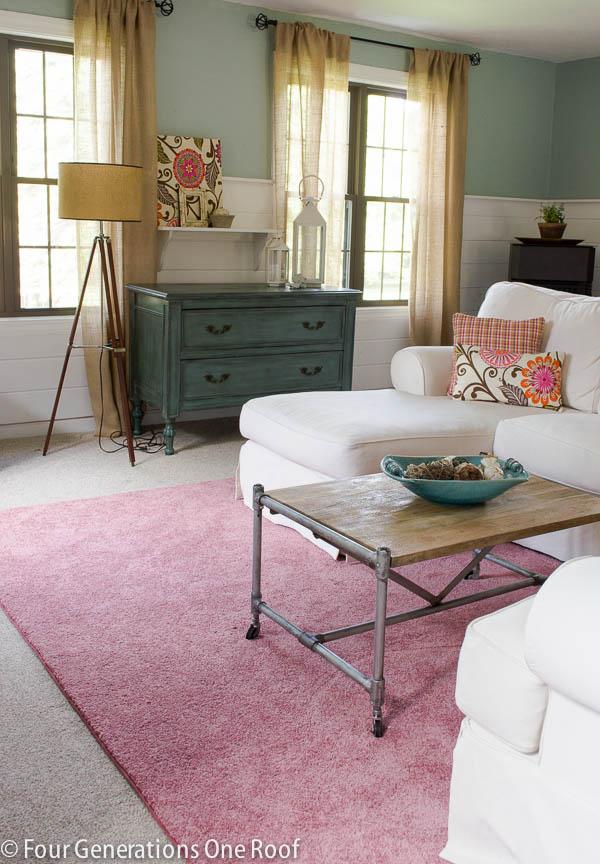 Mohawk pink rug decorating