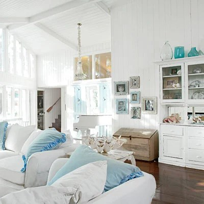 DIY Decorating Coastal without the beach {pool house makeover}