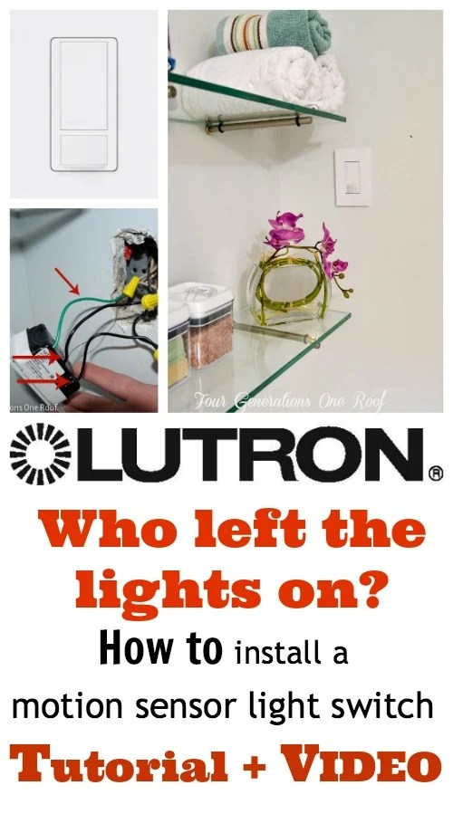 How to install a motion sensor light switch