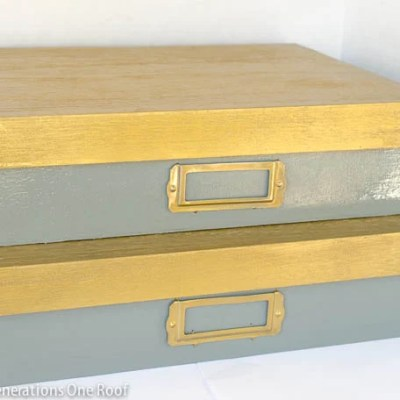 DIY Lacquer decorative boxes