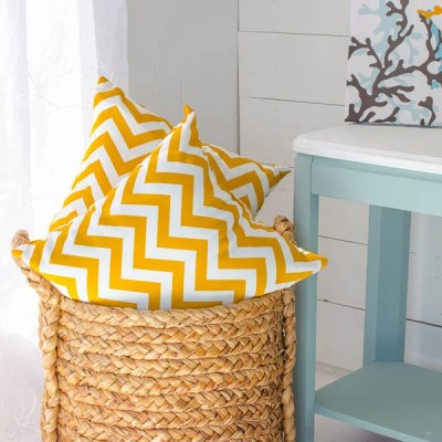 Decorating with yellow chevron pattern + I'm at Wayfair today