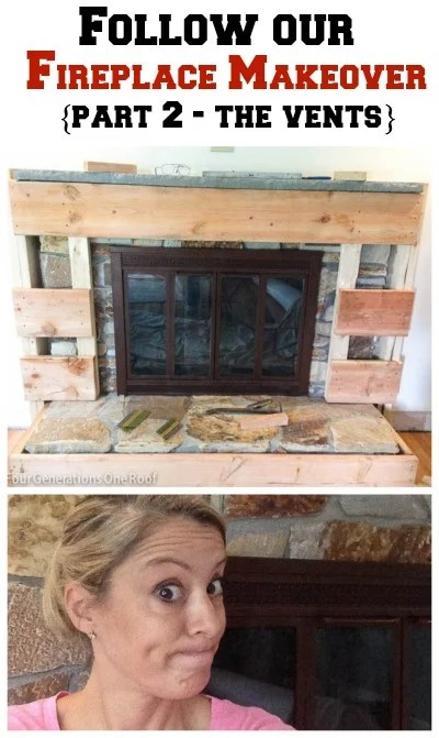 diy fireplace makeover the vents