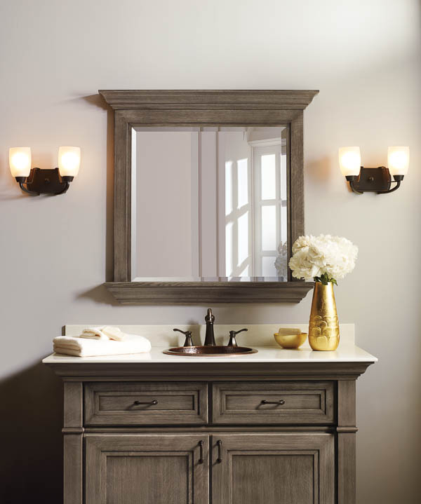 Win Bathroom Makeover: Makeover Bathroom Vanity Omega Cabinetry + Free Vanity